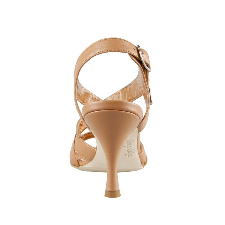 Latina - Nude Napa Leather 70, 90-Tangolera- Axis Tango - Best Tango Shoes