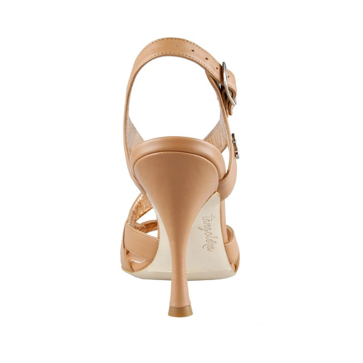Latina - Nude Napa Leather (9cm) | Axis Tango - Best Tango Shoes