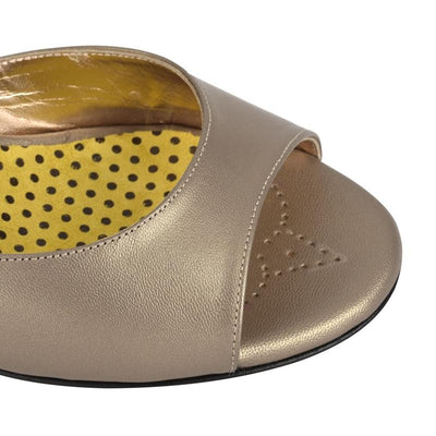 Enna - Bronze Leather (6cm) by Bandolera (now Tangolera) - Imported from Italy, Argentina and beyond: best tango shoes and tango apparel. Beautiful, comfortable, premium quality!