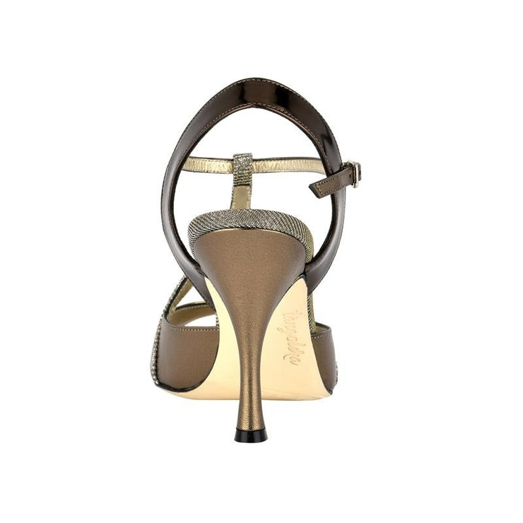 Messina - Iridescent Bronze Metallic Leather (9cm) | Axis Tango - Best Tango Shoes