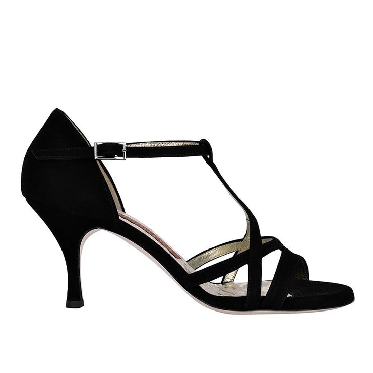 Como - Black Suede 70, 90-Tangolera- Axis Tango - Best Tango Shoes