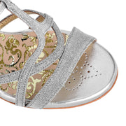 Como - Silver Textile (9cm) - Axis Tango | Best Tango Shoes