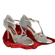 Como - Silver Textile 90 | Axis Tango - Best Tango Shoes