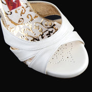 Pavia - White Pearl Leather (8cm) | Axis Tango - Best Tango Shoes