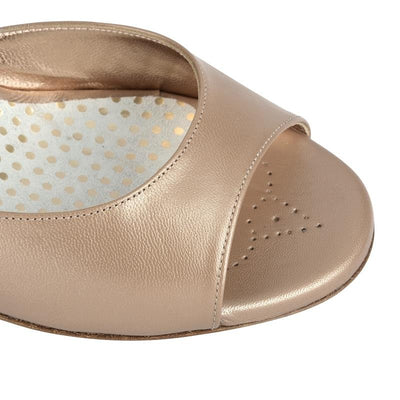 Enna CL - Desert Leather (7cm) by Bandolera (now Tangolera) - Imported from Italy, Argentina and beyond: best tango shoes and tango apparel. Beautiful, comfortable, premium quality!