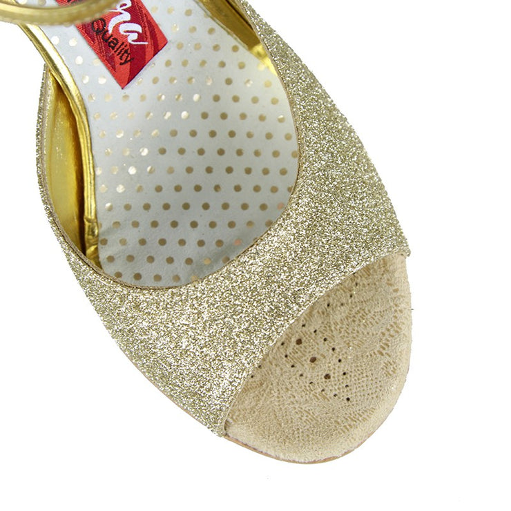 Enna CL - Gold Glitter (7cm) | Axis Tango - Best Tango Shoes