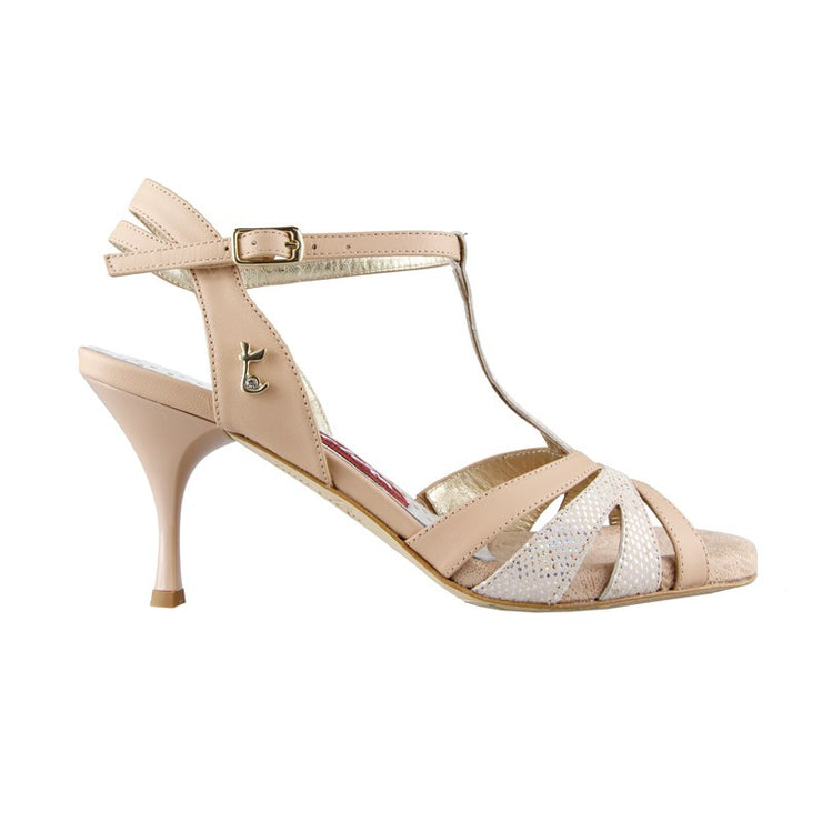 Catania - Nude Nappa Leather 70, 90-Tangolera- Axis Tango - Best Tango Shoes