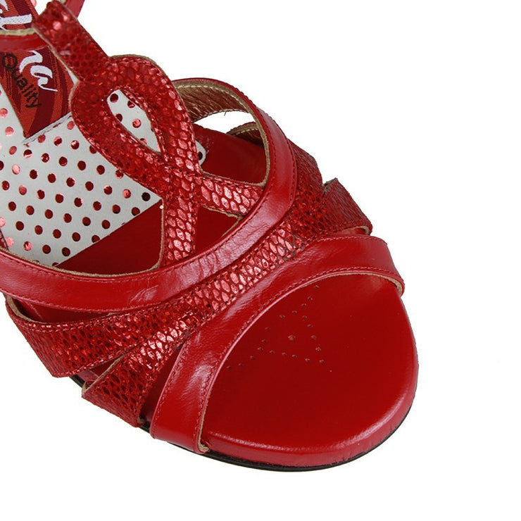 Catania C - Red Leather (7cm) | Axis Tango - Best Tango Shoes