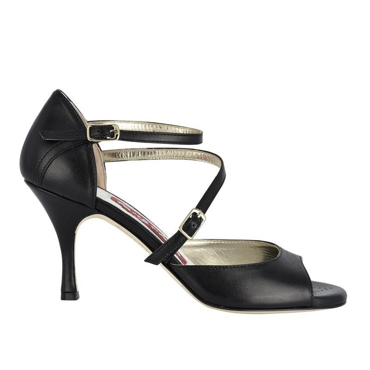 Siena B - Black Napa Leather 60, 70, 90-Tangolera- Axis Tango - Best Tango Shoes