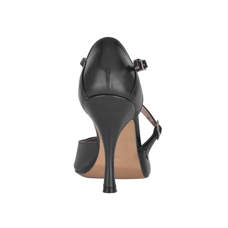 Siena B - Black Napa Leather (9cm) | Axis Tango - Best Tango Shoes
