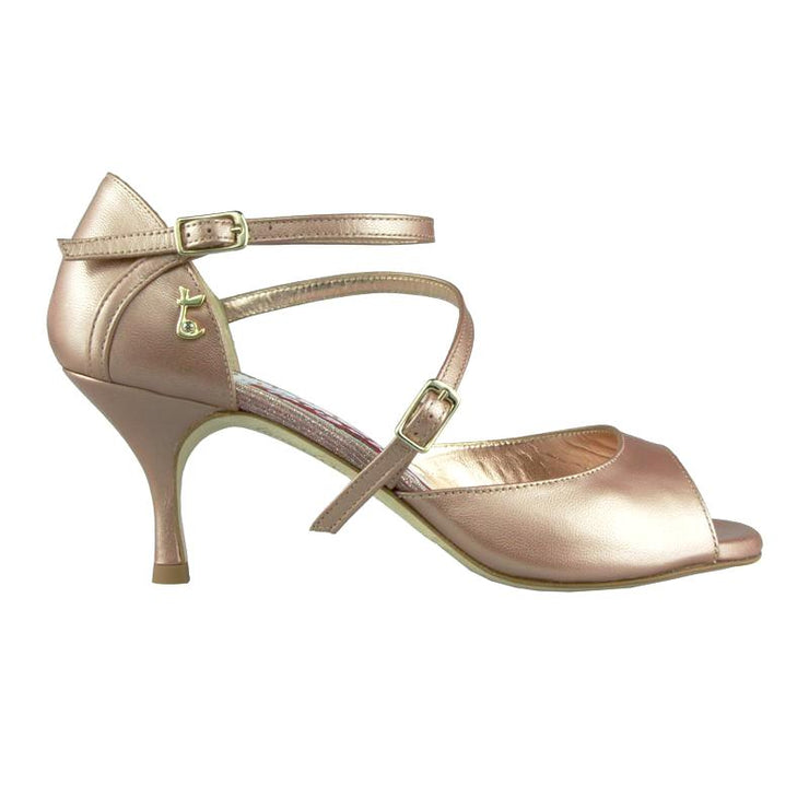 Siena B - Tan Pearl Leather (6cm) | Axis Tango - Best Tango Shoes