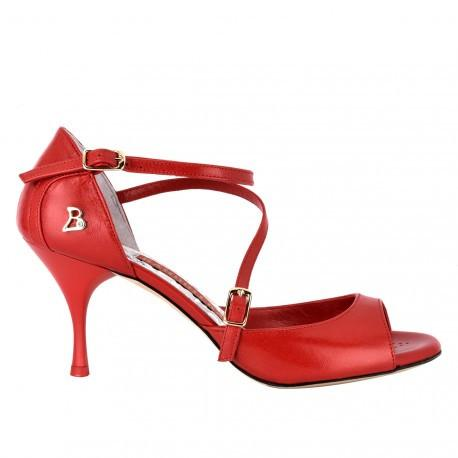 Siena B - Red Napa Leather 70, 90-Tangolera- Axis Tango - Best Tango Shoes
