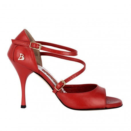 Siena B - Red Napa Leather (9cm) | Axis Tango - Best Tango Shoes