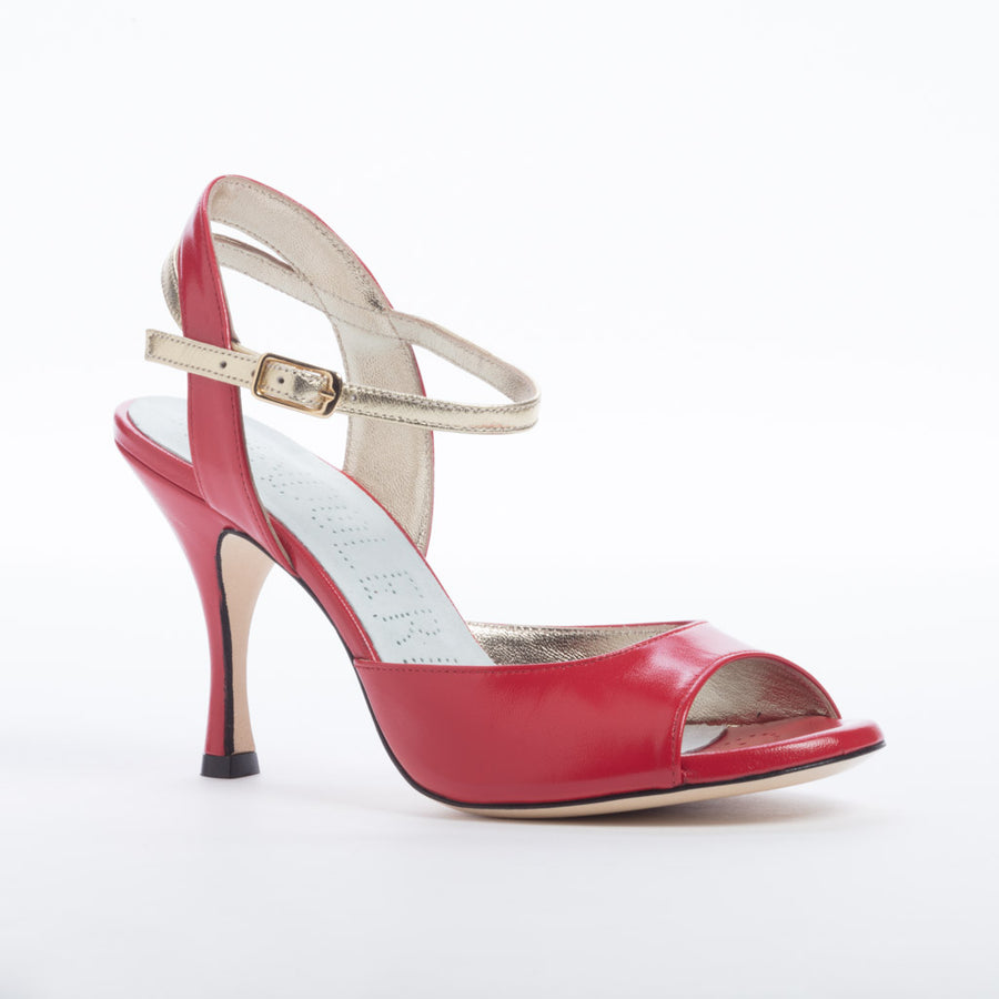 Asti - Red Nappa Leather (8cm)