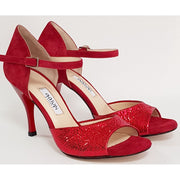 Belen - Red Leather and Suede 50, 60, 70, 80 | Axis Tango - Best Tango Shoes