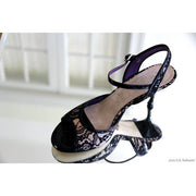 Enna - Black Lace and Suede 60 | Axis Tango - Best Tango Shoes