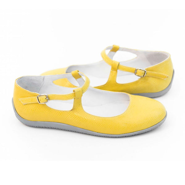 Mellyn - Yellow Stamped Leather