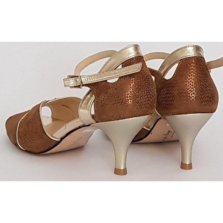 Campana - Bronze Patterned Suede 50, 60, 70, 80-Paso de Fuego- Axis Tango - Best Tango Shoes