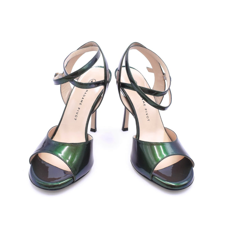Chantal DUS - Green Iridescent Patent-Madame Pivot- Axis Tango - Best Tango Shoes