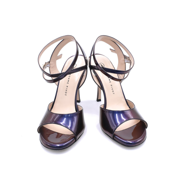 Chantal DUS - Purple Iridescent Patent-Madame Pivot- Axis Tango - Best Tango Shoes