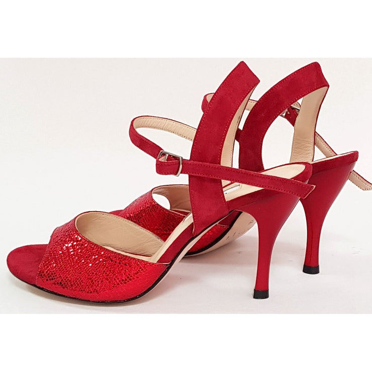 Corrientes - Red Leather and Red Suede 50, 60, 70, 80-Galupi- Axis Tango - Best Tango Shoes