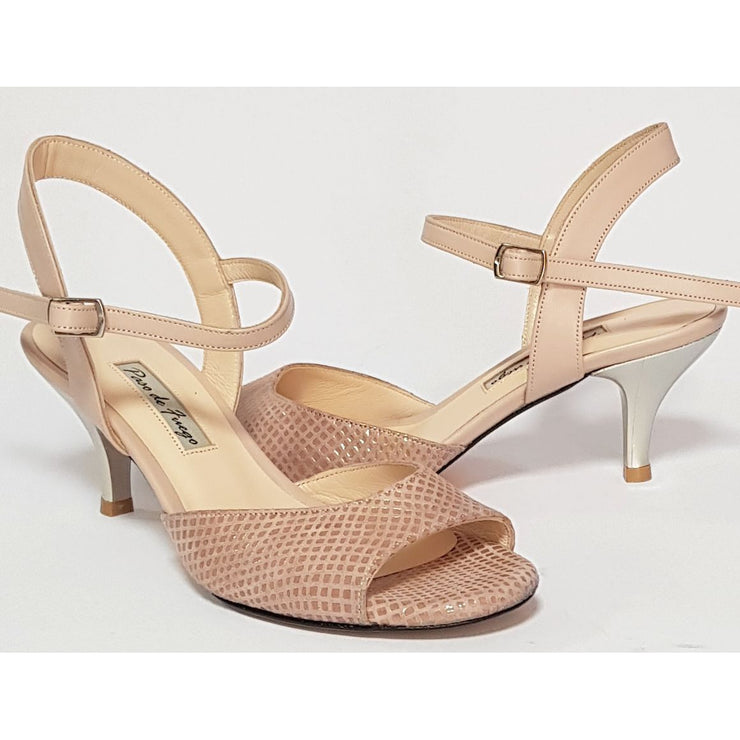 Corrientes - Blush Stamped Leather 50, 60, 70, 80-Paso de Fuego- Axis Tango - Best Tango Shoes