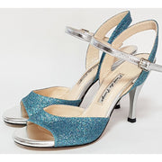 Corrientes - Aquamarine Glitter 50, 60, 70, 80-Paso de Fuego- Axis Tango - Best Tango Shoes