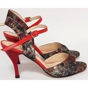 Corrientes - Stained Glass Leather 50, 60, 70, 80-Paso de Fuego- Axis Tango - Best Tango Shoes