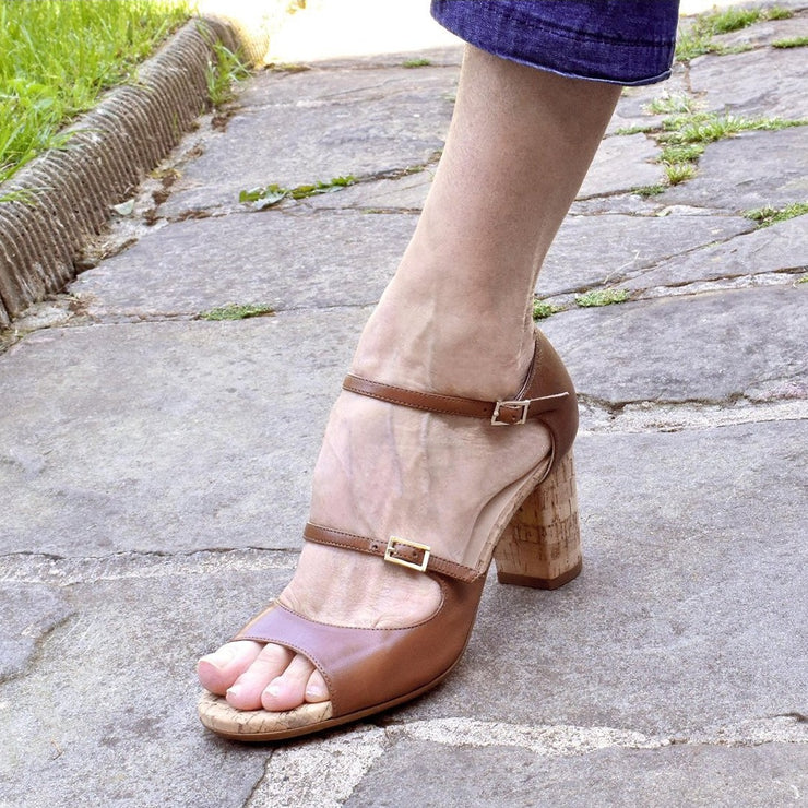 Dixie Street - Natural Leather 75-Madame Pivot- Axis Tango - Best Tango Shoes