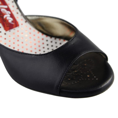 Pisa - Black Leather (7cm)