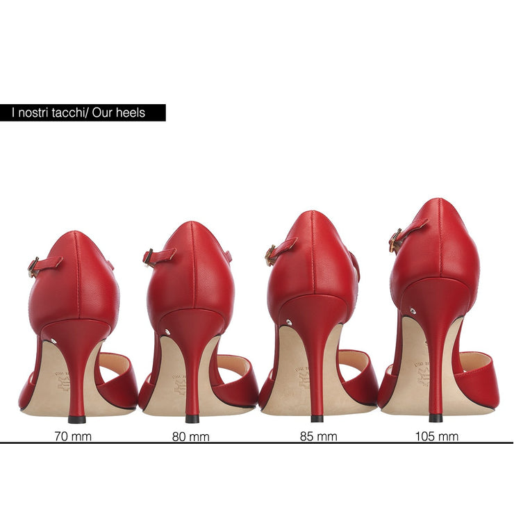 Classico - Red Leather 70, 80, 85, 105-Madame Pivot- Axis Tango - Best Tango Shoes