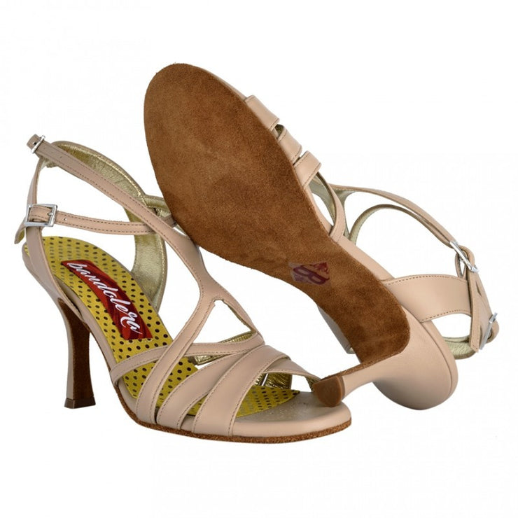 Bari BIS - Nude Leather 80 | Axis Tango - Best Tango Shoes