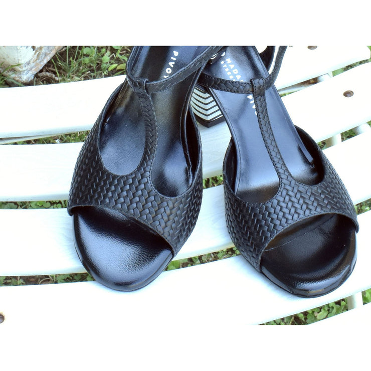 Fedra Street - Black Leather 75-Madame Pivot- Axis Tango - Best Tango Shoes