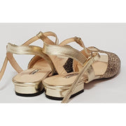 Sarmiento - Platinum Cheetah Leather 15-Paso de Fuego- Axis Tango - Best Tango Shoes