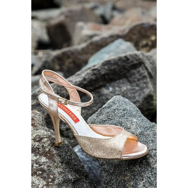 Asti - Copper Microglitter 90 | Axis Tango - Best Tango Shoes