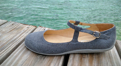 Asphalt Jungle - Grey Stamped Leather by Katrinski - Imported from Italy, Argentina and beyond: best tango shoes and tango apparel. Beautiful, comfortable, premium quality!
