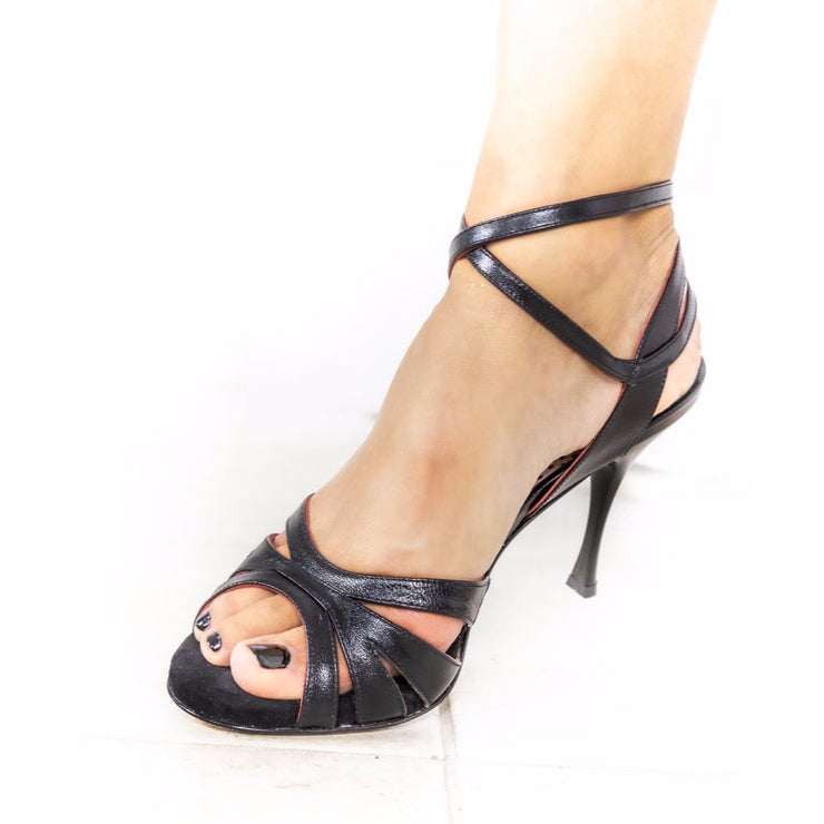 Catania CL - Black Leather 90 | Axis Tango - Best Tango Shoes