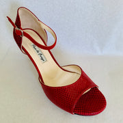 Belen - Red Leather-Paso de Fuego- Axis Tango - Best Tango Shoes