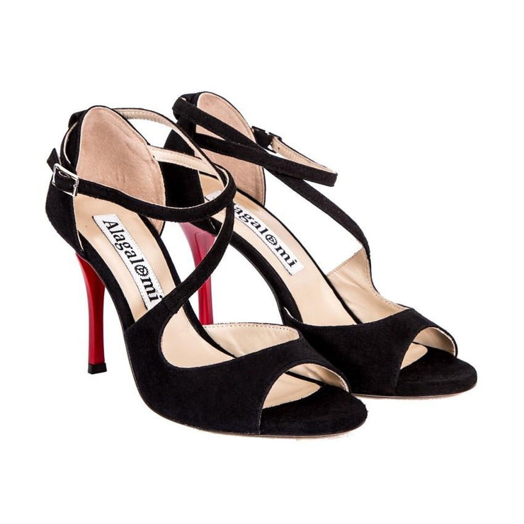 Venus - Black & Red-Alagalomi- Axis Tango - Best Tango Shoes