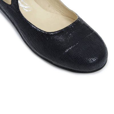Jinx - Black Stamped Leather - FINAL SALE by Katrinski - Imported from Italy, Argentina and beyond: best tango shoes and tango apparel. Beautiful, comfortable, premium quality!