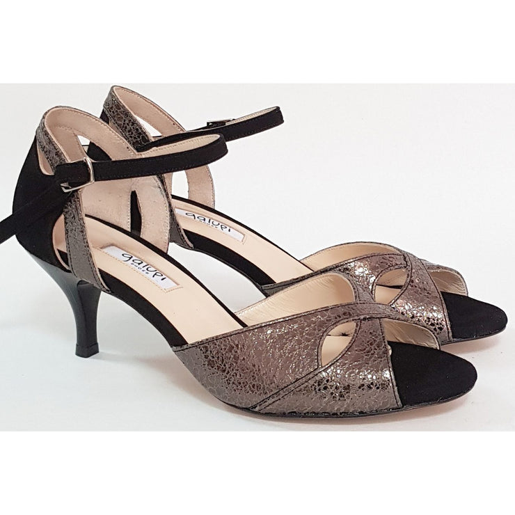 Miramar - Pewter Leather and Black Suede 50, 60, 70, 80-Galupi- Axis Tango - Best Tango Shoes