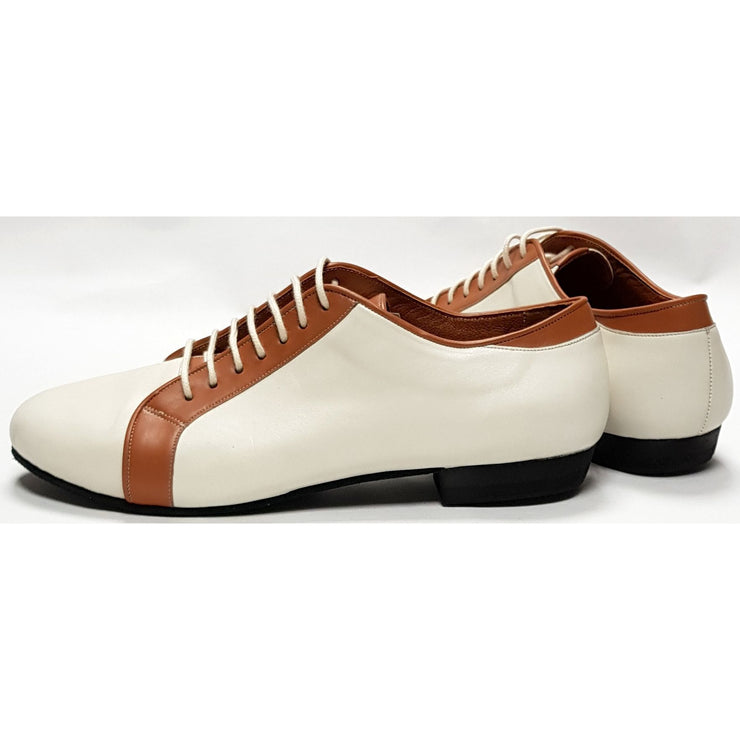 Firpo - Cream and Tan Leather