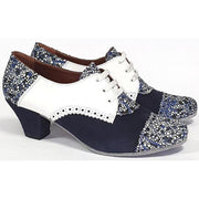 Frontera - Blue Suede and White Leather 45 | Axis Tango - Best Tango Shoes