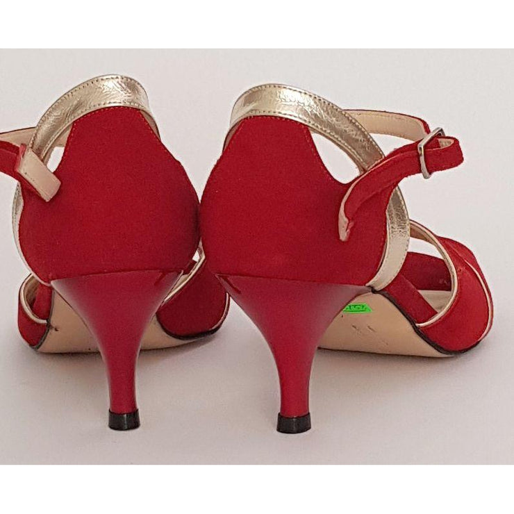 Campana - Red Suede | Axis Tango - Best Tango Shoes