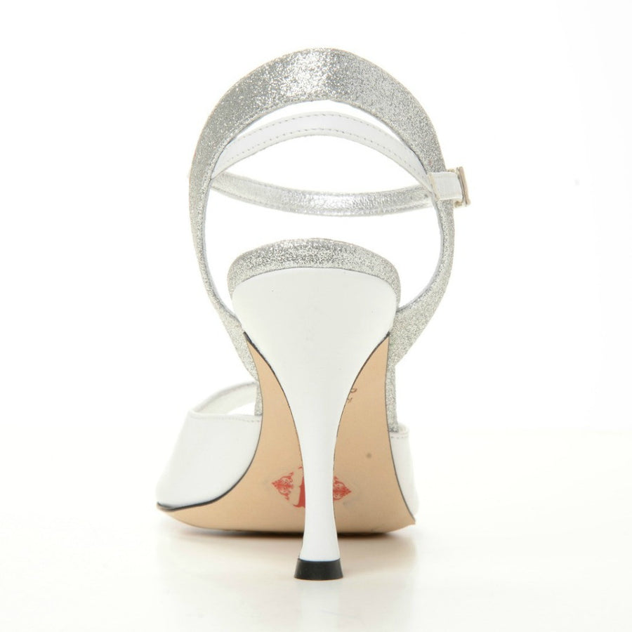 Asti - White Leather (8cm)