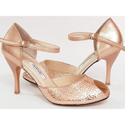 Sarandi - Pale Gold Leather | Axis Tango - Best Tango Shoes