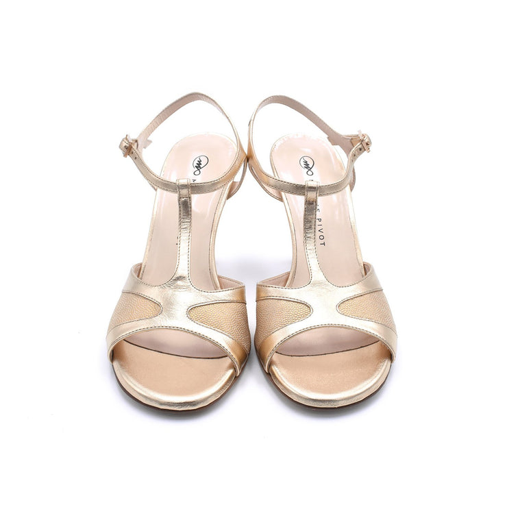 Twila 2P - Gold-Madame Pivot- Axis Tango - Best Tango Shoes