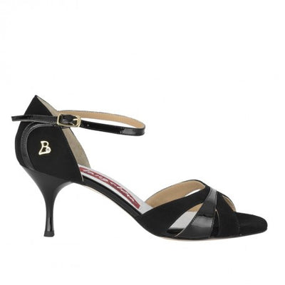 Biella - Black Suede & Patent (6cm) by Bandolera (now Tangolera) - Imported from Italy, Argentina and beyond: best tango shoes and tango apparel. Beautiful, comfortable, premium quality!
