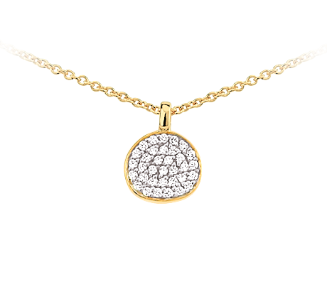 Yellow Gold Necklace With Diamonds Pendant