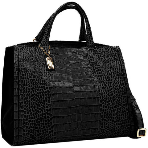 Plinio Visona Nebraska Handbag in Croco - GL Shops